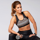 On the ball: Amanda Byram makes time to exercise every day