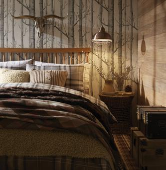 Duvet set from £15, wall plaque £49, trunks - set of two £99, Very