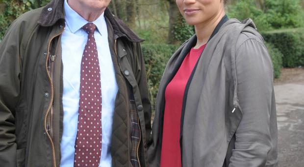 Angela Griffin in Lewis with star of the show Kevin Whately