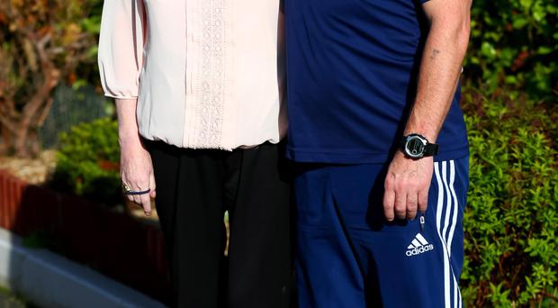 Motherly love: Irish League soccer star Stephen Small with his mum Mary