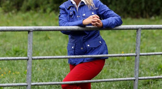 Outdoor life: Jo-Anne Dobson loves walking on her farm when she can