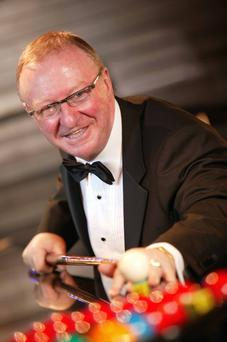 On the ball: Dennis Taylor