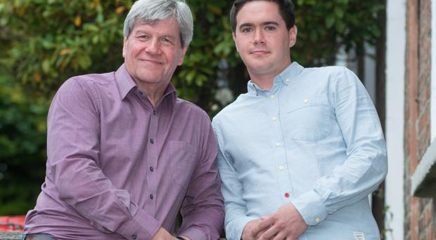 On the lookout: Joe Mahon and son Patrick who work on Lesser Spotted Ulster