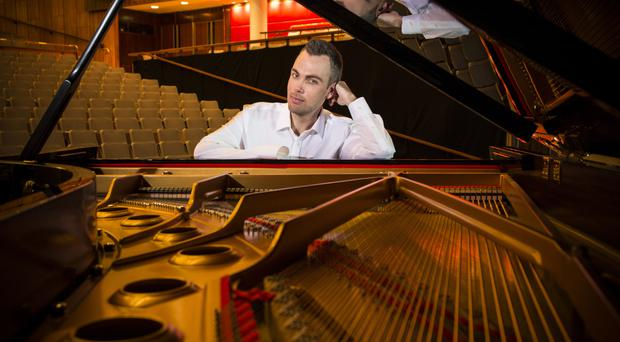 Piano man: Nicholas McCarthy has overcome adversity to fulfil his dreams