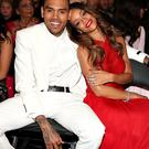 Happier times: Rihanna and Chris Brown