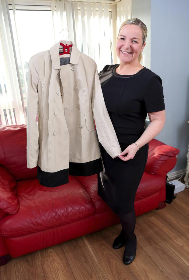 Wardrobe mistress: Ruth McKeown with some of her clothes collection