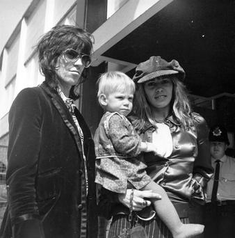 Keith Richards with ex-wife Anita Pallenberg