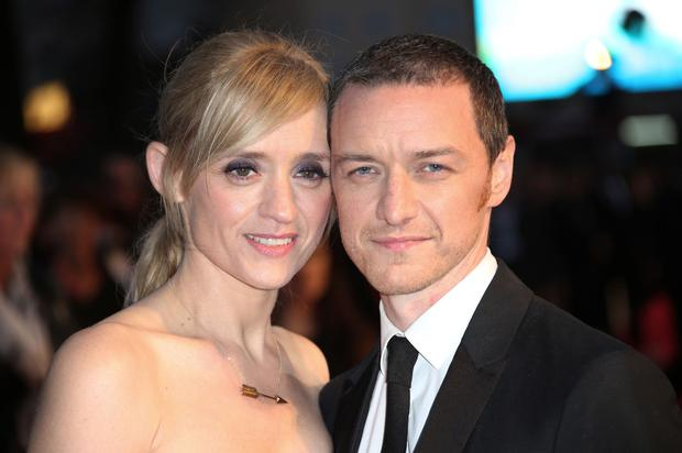 Star couple: Anne-Marie Duff and James McAvoy at the premiere of Suffragette