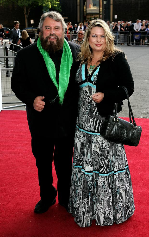 Love life: actor Brian Blessed with his wife of 37 years, Hildegarde