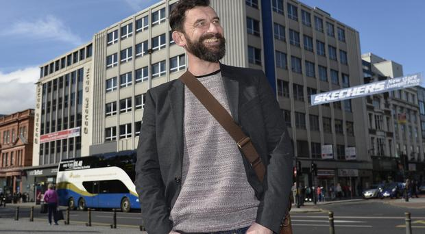 Inside story: author Paul McVeigh at Belfast City Hall