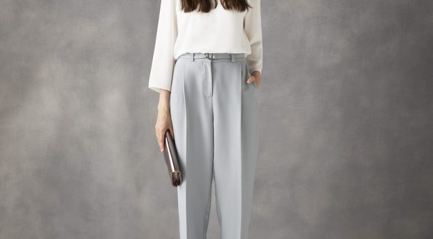 Blouse, £59, trousers, £65, both Phase Eight at House of Fraser