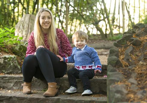 Loving mum: Rebecca Finlay and son, Reuben