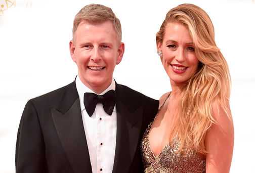 Comedian Patrick Kielty and his wife Cat Deeley