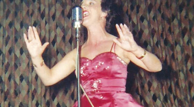Amazing life: Bridie performs with the Martin Costello Band in New York on her 1959 tour