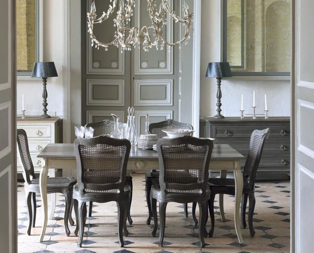 Manon grey dining table, 850 and Yasmina dining chair, reduced to £112.50, available from Sweetpea and Willow