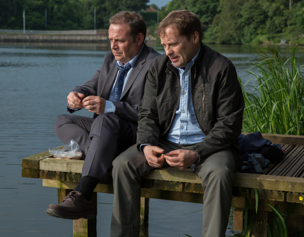 Gentler role: Ardal O'Hanlon as Peter and John Thomson as Geoff in After Hours