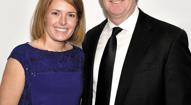 Better times: Patrick Kennedy and wife Amy