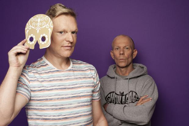 Behind the mask: Andy Bell (left) and Vince Clarke of Erasure believe they have not received the recognition they deserve