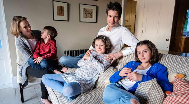 Family life: Millie May Previero with her father Marco, mother Vanessa, sister Ellie and brother Luca at home