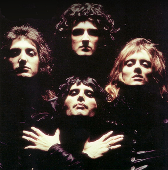 Musical royality: clockwise from left, John Deacon, Brian May, Roger Taylor and Freddie Mercury