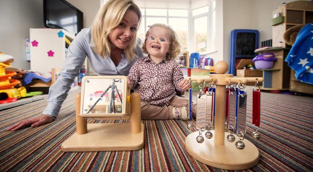 Toy story: Esther Small and her daughter Victoria