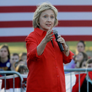On the attack: Hillary Clinton has accused Pfizer