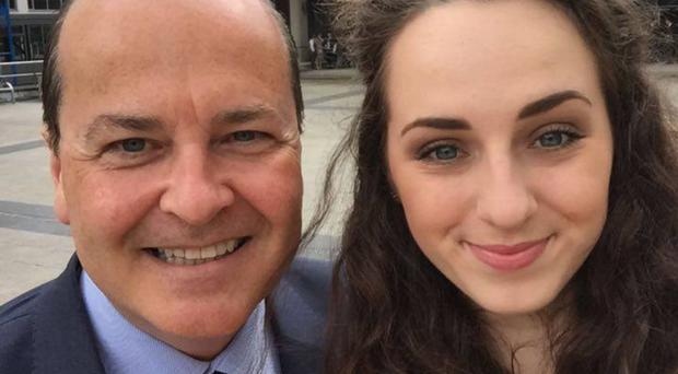Daddy's girl: Beth and Tony Macaulay