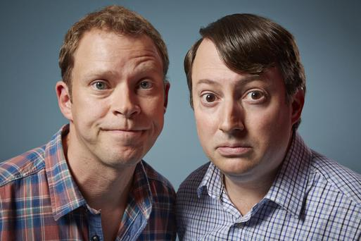 Ageing flatmates: Robert Webb as Jeremy and David Mitchell as Mark