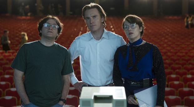 Big picture: Kate with Michael Stuhlbarg and Michael Fassbender in Steve Jobs