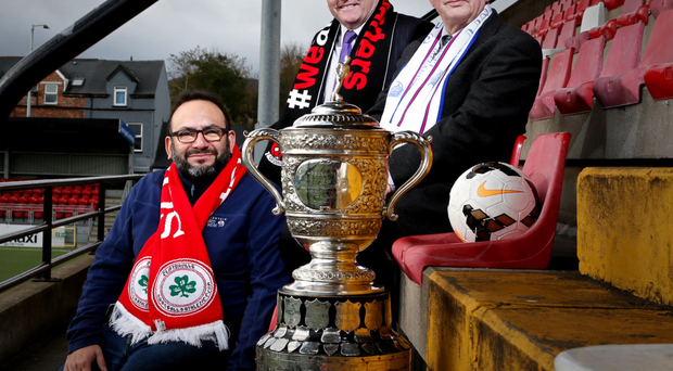 On the ball: from left, chaplains Dario Leal, Ken White and Bill Lavery