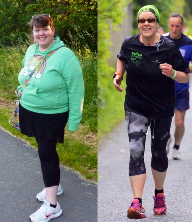 Then and now: Janine Ramsay before and after she started running