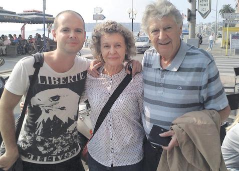 Toto with his mum robina and Dad Jimmy ellis