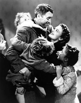 Magic times: James Stewart in the 1946 film It's A Wonderful Life
