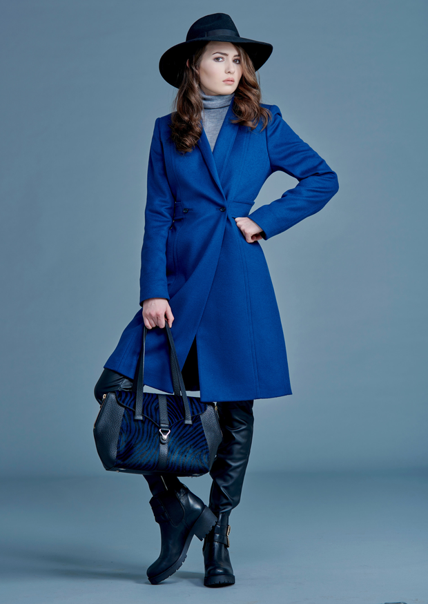 Coat, £265 (RRP £395), bag, £195 (RRP £425), both from LK Bennett; boots, £58.99 (RRP £119), Daniel Footwear and hat, £45 (RRP £65), Jaeger