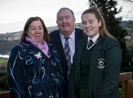 Family support: Pat Ramsay with his wife Chris and daughter Aine