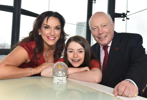 Julian with actress Erin Galway-Kendrick from Newtownards and Cinemagic Chief Executive Joan Burney Keatings
