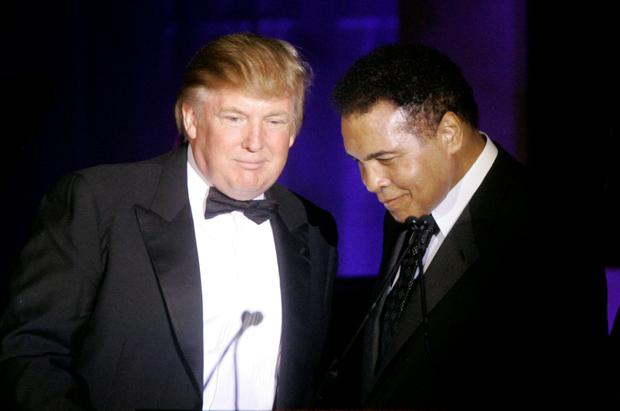 Donald Trump with Muhammad Ali