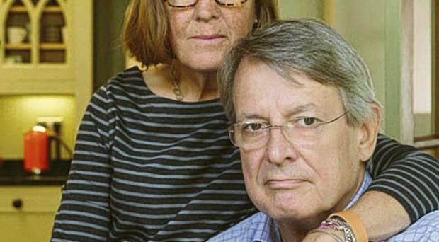 Strong bond: Andrew Jeffrey with his wife Sally
