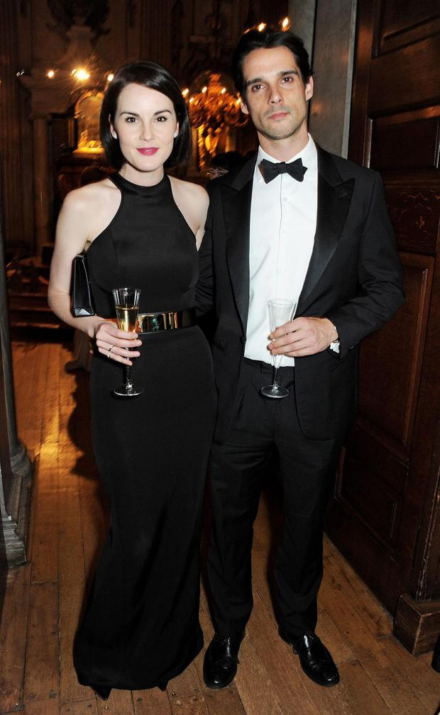 Loving couple: actress Michelle Dockery with her fiance John Dineen