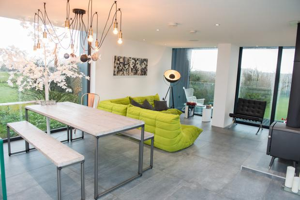 Self-contained: Maghera-based architect Patrick Bradley in his house, which was featured in TV show Grand Designs