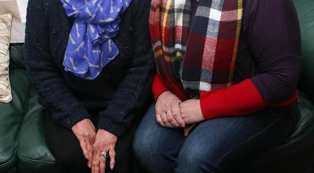 Passed down: Beverley McClearn and her daughter Wendy Tate, who both suffer from Ichthyosis