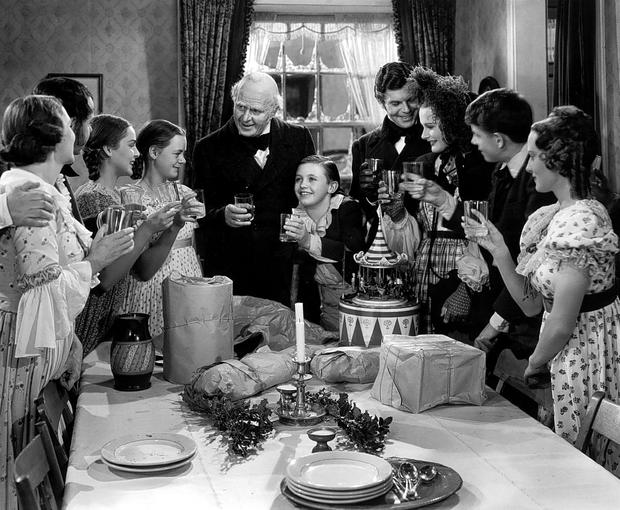 Festive favourite: 1938's A Christmas Carol which starred Reginald Owen and Gene Lockhar