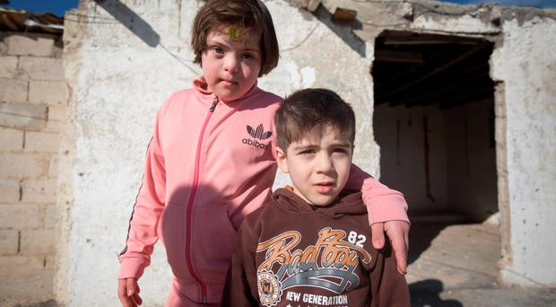 Difficult time: Syrian refugees are having to endure great hardships in their search for safety