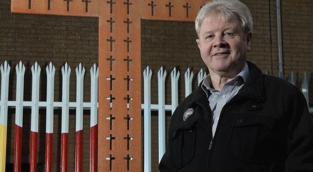 Strong faith: Pastor Jack McKee at his west Belfast Church