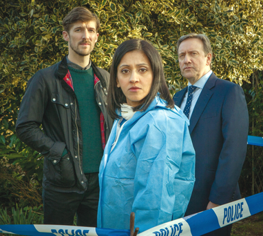 Gwilym Lee, Manjinder Virk and Neil Dudgeon