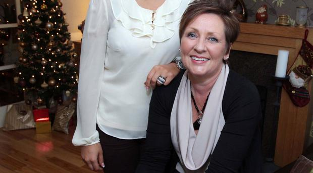 Sarah Lynas pictured with her mum Lynn