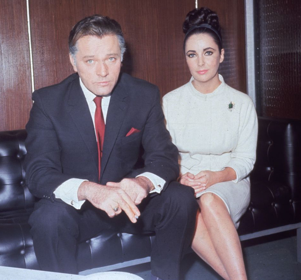 Tempestuous two: Richard Burton and Elizabeth Taylor were both fond of alcohol