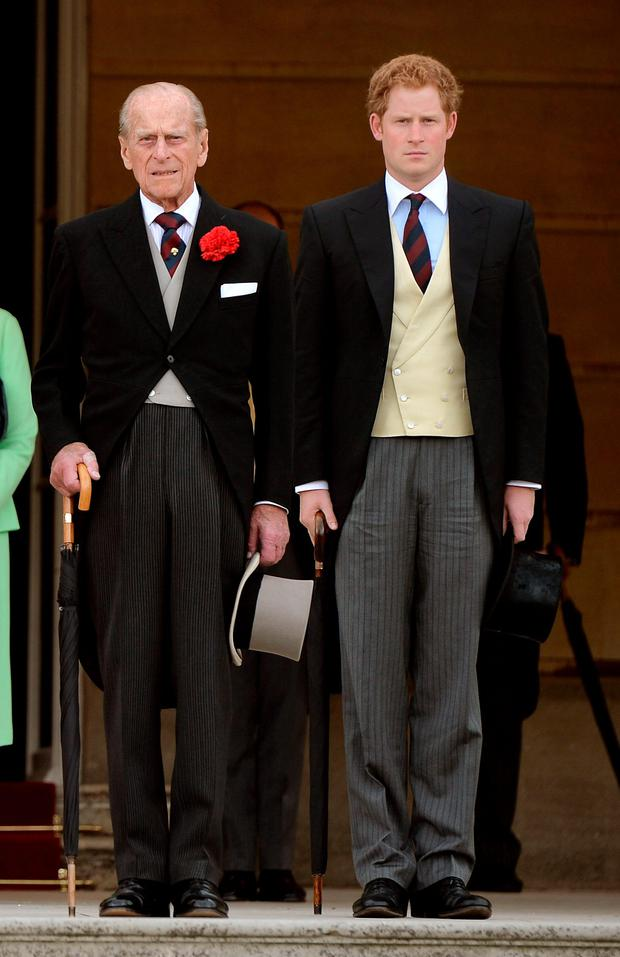Dress code: Prince Philip with Prince Harry