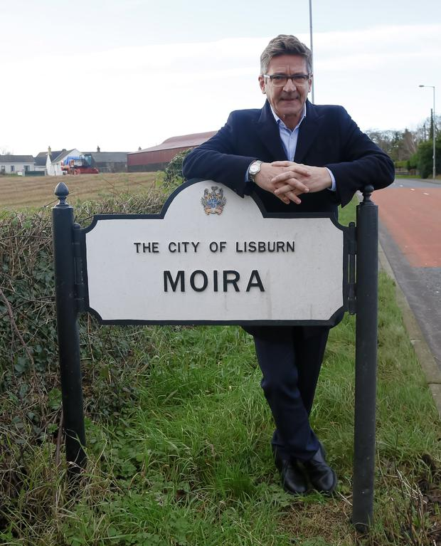 Danger signs: Joris Minne on his return visit to Moira