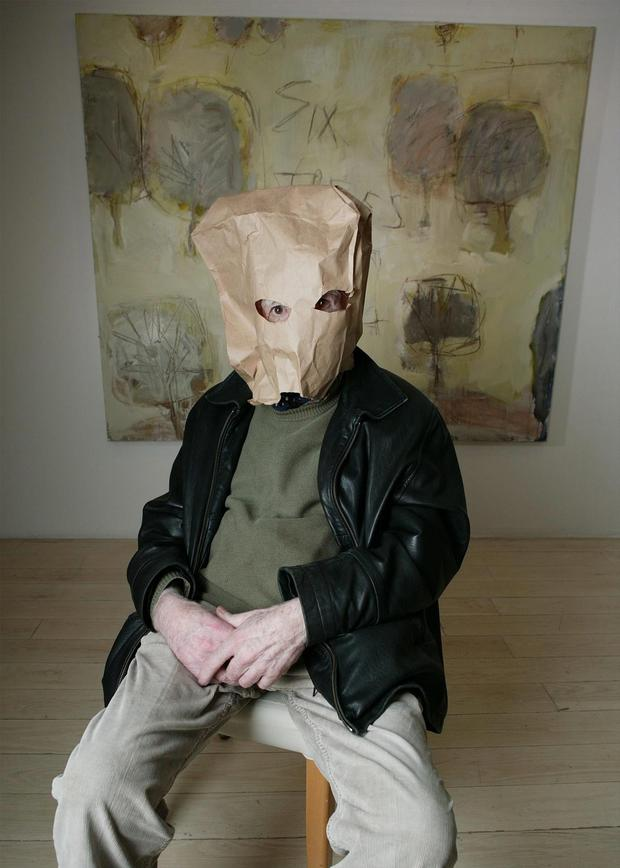 Hidden talent: artist Basil Blackshaw at the opening of his exhibition in Cork in 2005